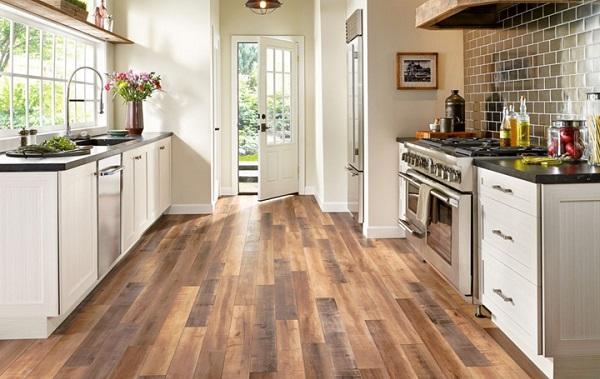 Lát sàn gỗ cho nhà bếp