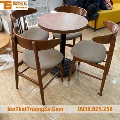 bàn ghế quán cafe bằng gỗ TS167