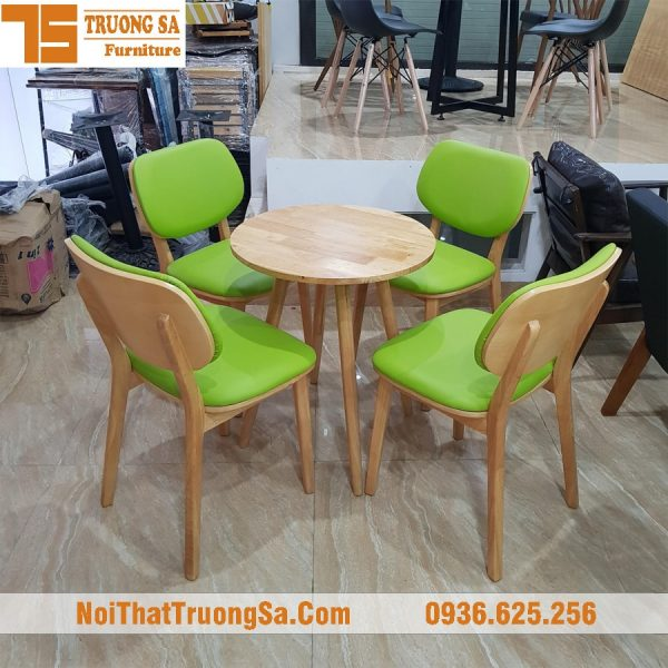 Bàn ghế gỗ quán cafe TS168B