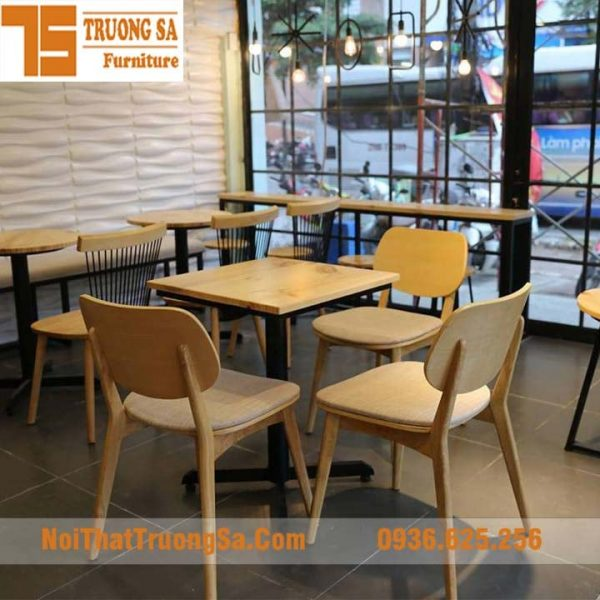 bộ bàn ghế quán cà phê TS168A