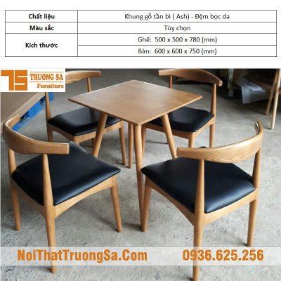 bàn ghế gỗ cà phê giá rẻ TS177