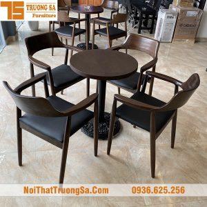 Bàn ghế gỗ cho quán cafe TS187