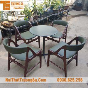 bộ bàn ghế gỗ quán cafe TS1931