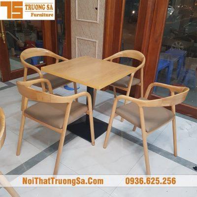 bộ bàn ghế gỗ cafe TS325