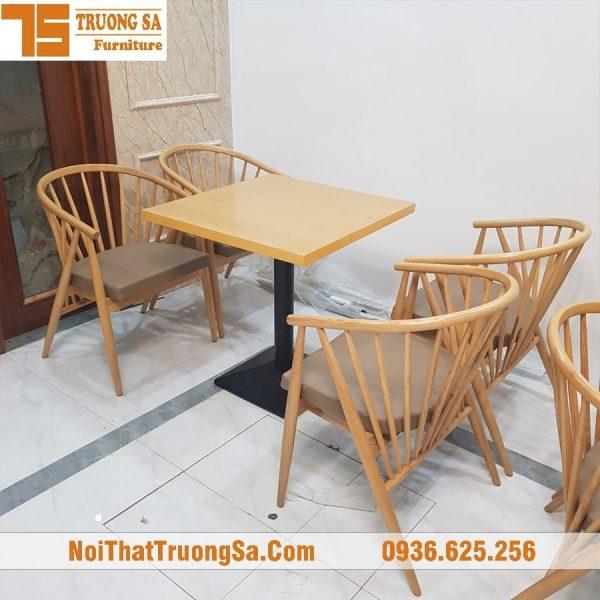 bàn ghế gỗ cho quán cafe Genny