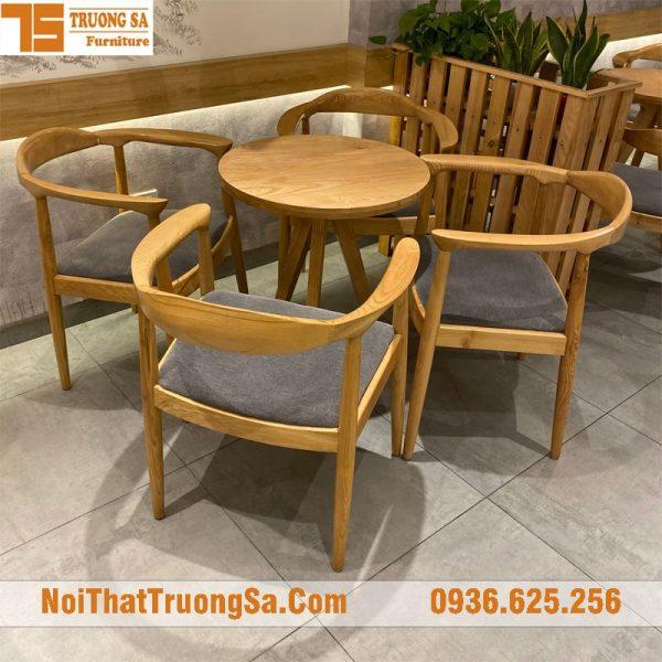 bộ bàn ghế cafe gỗ TS333