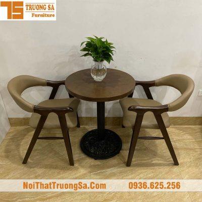 bộ bàn ghế cafe bằng gỗ TS337
