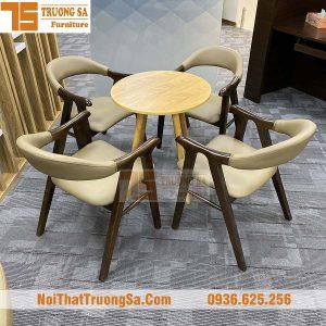 Bàn ghế quán cafe bằng gỗ TS337