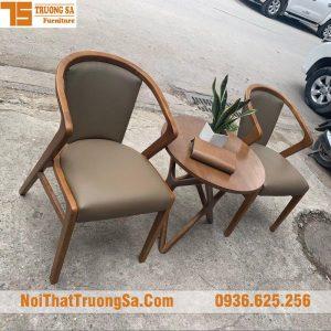 bộ bàn ghế gỗ cà phê TS338