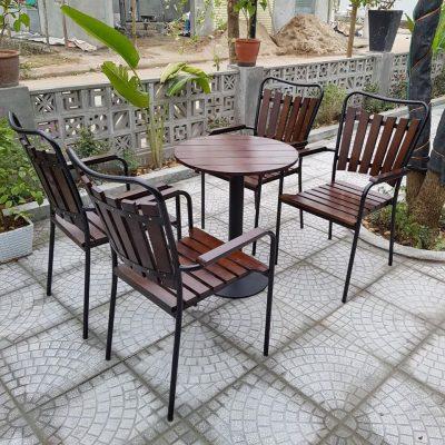 Bàn ghế cafe sắt TS332