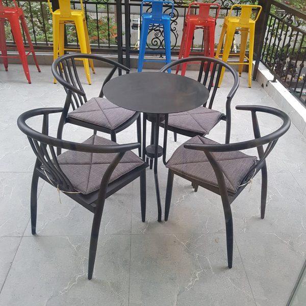 bàn ghế cà phê sắt TS331