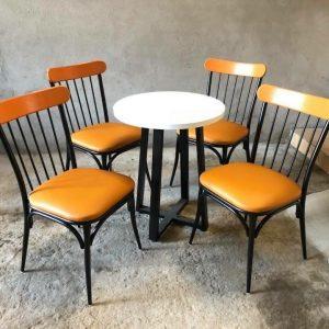 bàn ghế sắt cafe TS237