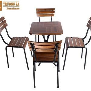 bàn ghế cà phê sắt Kite