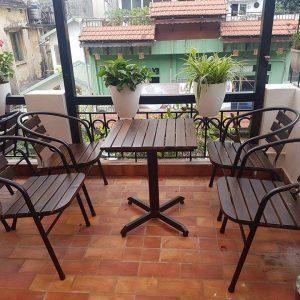 bàn ghế cafe sắt TS259