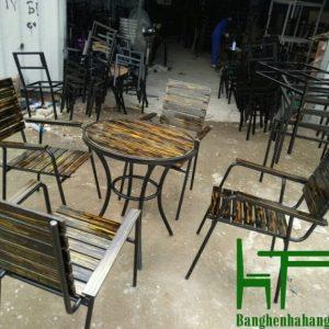 Bàn ghế cà phê sắt TS263