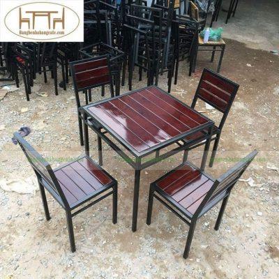 Bàn ghế sắt hộp đẹp TS264