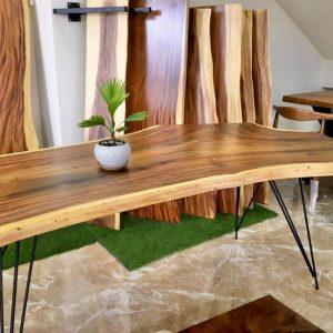 bàn gỗ me tây nguyên tấm TS128