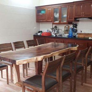 bàn ghế ăn gỗ nguyên khối TS121
