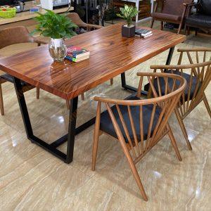 bàn gỗ xà cừ nguyên tấm tS454
