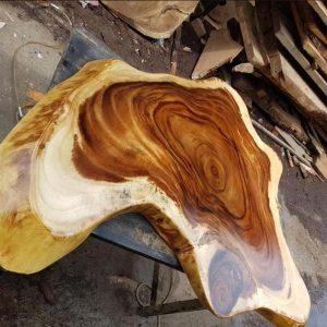 bàn trà gỗ nguyên tấm TS141