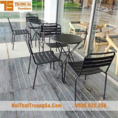 bàn ghế ngoài trời bằng sắt TS355