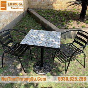 bàn ghế ngoài trời bằng sắt TS484