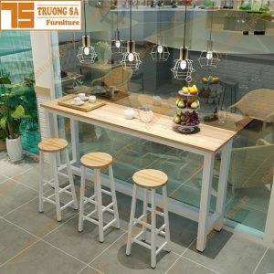 Bàn ghế bar gỗ giá rẻ TS117