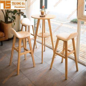Ghế quầy bar gỗ TS118