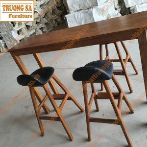 ghế quầy bar gỗ TS119