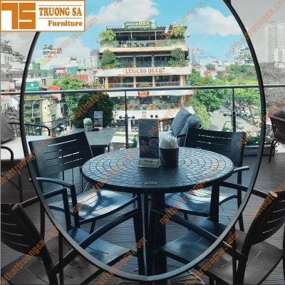 bàn ghế cafe ngoài trời TS128A