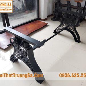 chân bàn gỗ nguyên tấm đẹp TS600
