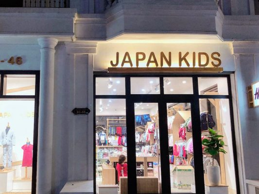 thiết kế cửa hàng quần áo trẻ em