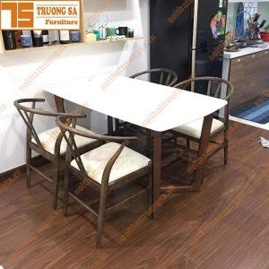 Bộ bàn ăn mặt đá nhập khẩu TS394