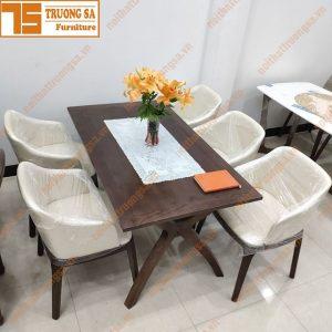 Bộ bàn ăn 4 ghế gỗ sồi TS395