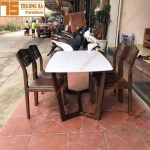 Bộ bàn ghế ăn mặt đá TS396