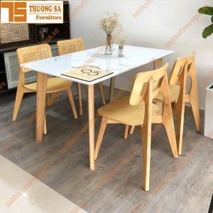 Bộ bàn ghế ăn đẹp TS368