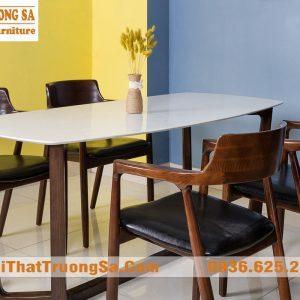 Bộ bàn ghế ăn gỗ sồi TS282