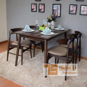 Mẫu bàn ghế gỗ phòng ăn đẹp TS352