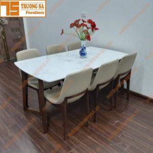 Bộ bàn ăn mặt đá 6 ghế TS378