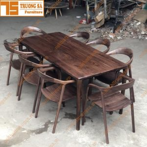 Bàn ăn 8 ghế hiện đại TS371