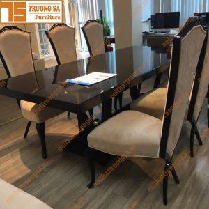 Bộ bàn ăn 6 ghế tân cổ điển TS381
