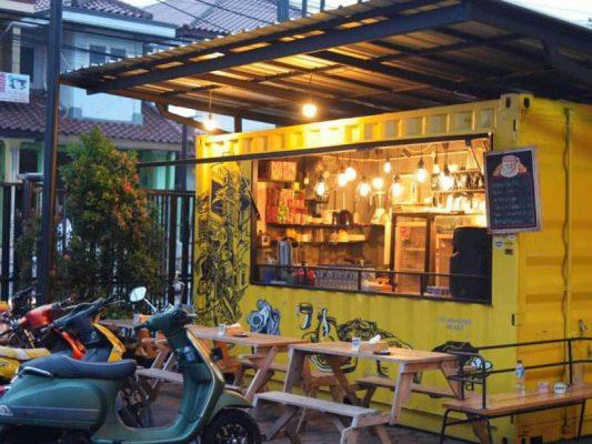 thiết kế quán cafe 2 mặt tiền đẹp