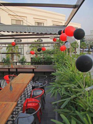 thiết kế quán cafe sân thượng đẹp